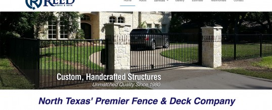 Reed Fence Deck